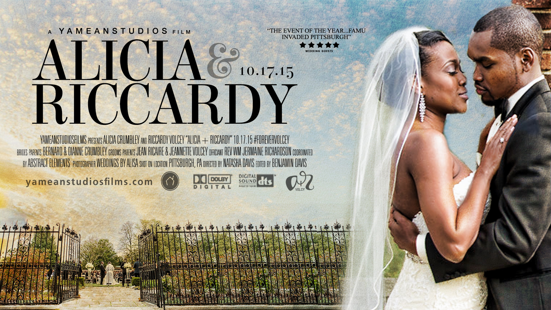 Romantic Garden Wedding in Pittsburgh, PA | Alicia + Riccardy | Wedding Trailer
